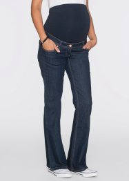 Umstandsjeans, weites Bein, bpc bonprix collection, dark denim