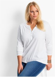 Shirt, Langarm, bpc bonprix collection, weiss