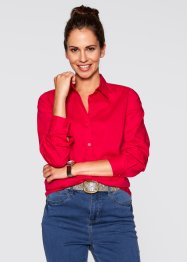Langarm-Bluse, bpc bonprix collection, rot