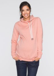 Umstands-Sweatshirt mit grossem Kragen, bpc bonprix collection, hellkoralle