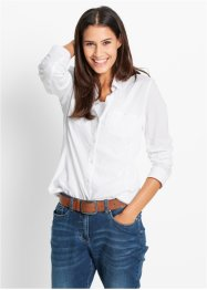 Bluse, Langarm, bpc bonprix collection, weiss