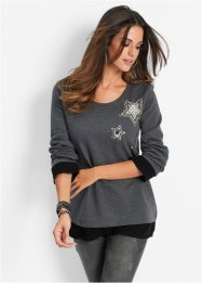 Sweatshirt, bpc selection, wollweiss meliert