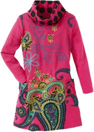 Kleid, bpc bonprix collection, dunkelpink allover