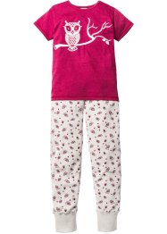 Pyjama (2-tlg. Set), bpc bonprix collection, rotebeete/naturmeliert
