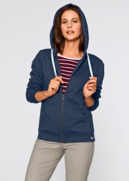 Sweatjacke, bpc bonprix collection, dunkelblau meliert