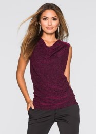 Lurex Top, BODYFLIRT, blau