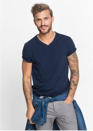 T-Shirt Slim Fit (2er-Pack), RAINBOW, dunkelblau+weiss