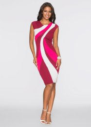 Kleid Multi Color, BODYFLIRT boutique, schwarz/weiss/rot