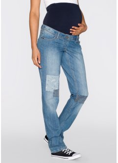 7/8-Umstandsmoden-Jeans mit Flicken, bpc bonprix collection, blue stone