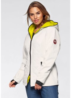 Funktions-Softshelljacke mit Steppeinsatz, bpc bonprix collection, mattsilber/mattpink