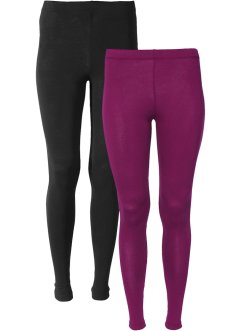 Leggings (2er-Pack), BODYFLIRT, beere/schwarz