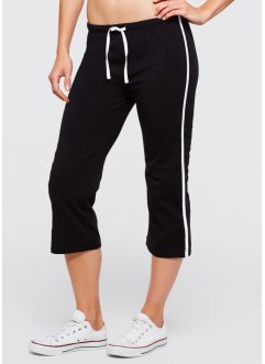 Stretch-Sportcapri, bpc bonprix collection, schwarz
