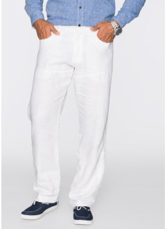 Leinen-Hose Regular Fit, bpc selection, weiss