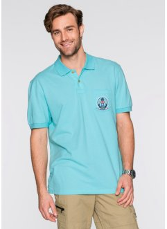 Poloshirt Regular Fit, bpc selection, aqua