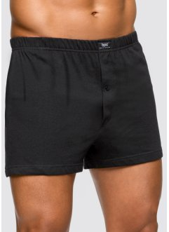 Boxer (3er-Pack), bpc bonprix collection, schwarz uni
