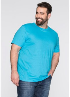 T-Shirt (3er-Pack), Regular Fit, bpc bonprix collection, weiss/türkis/schwarz
