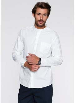 Langarmhemd Regular Fit, bpc bonprix collection, weiss