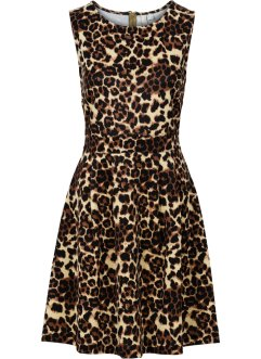 Kleid in Scubaoptik, BODYFLIRT boutique, leopard braun