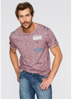 T-Shirt Regular Fit, John Baner JEANSWEAR, bordeaux