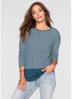 2-in-1-Shirt, RAINBOW, blau/weiss gestreift