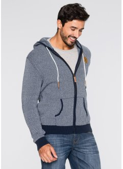 Strickjacke Regular Fit, John Baner JEANSWEAR, weiss/dunkelblau