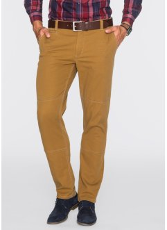 Chino-Hose Regular Fit Straight, bpc bonprix collection, messing