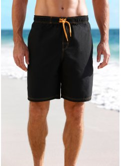 Badeshorts Herren, bpc bonprix collection, schwarz