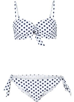 Bügel Bikini (2-tlg. Set), bpc bonprix collection, weiss/blau