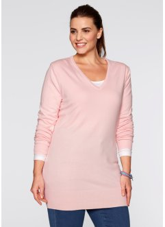 Basic Feinstrick-Pullover, bpc bonprix collection, zartrosa