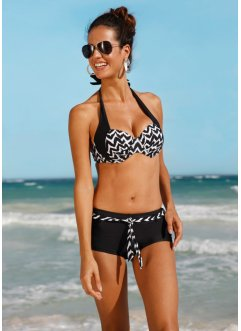 Bügel Bikini Oberteil, bpc bonprix collection, schwarz/weiß