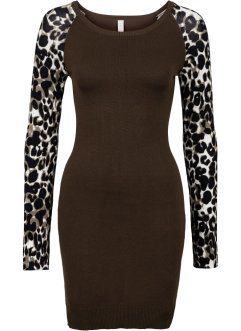 Strickkleid, BODYFLIRT boutique, leopard dunkelbraun