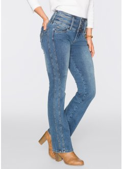 "Stretch-Jeans ""Bauch- Beine- Po"" in Super-Stretch-Material, BOOTCUT, John Baner JEANSWEAR, blau"