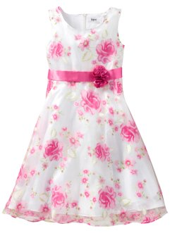 Kleid, bpc bonprix collection, weiss/pink