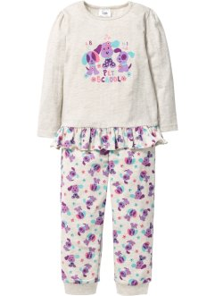 Pyjama (2-tlg. Set), bpc bonprix collection, naturmeliert/flieder