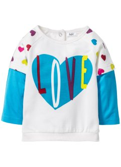 Baby Sweatshirt Bio-Baumwolle, bpc bonprix collection, wollweiss
