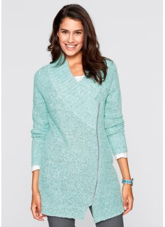 Boucle-Strick-Jacke, bpc bonprix collection, pastellmint