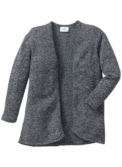 Strickcardigan, bpc bonprix collection, anthrazit meliert/wollweiss meliert