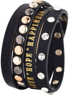 Nietenarmband, bpc bonprix collection, schwarz