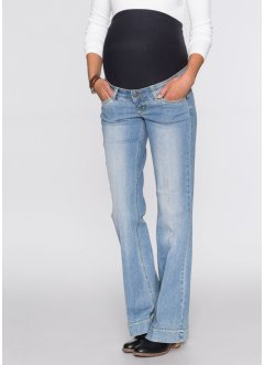 Umstandsjeans, mit Schlag, bpc bonprix collection, medium blue bleached