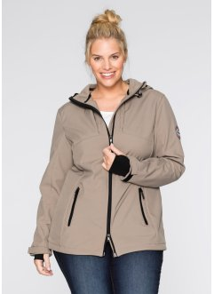 Softshelljacke, bpc bonprix collection, taupe