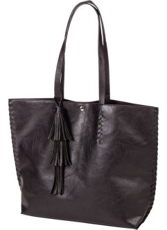 Shopper mit Troddel, bpc bonprix collection, schwarz