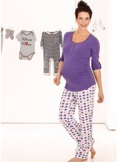 Still-Pyjama (2-tlg.), bpc bonprix collection, lila/bedruckt