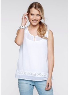 Blusen-Top, bpc bonprix collection, weiss
