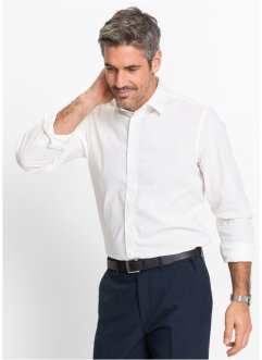 Herren Stretch-Hemd, Slim Fit, bpc selection, weiss