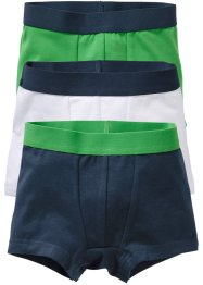 Boxershorts (3er-Pack), bpc bonprix collection, dunkelblau/grün/weiss