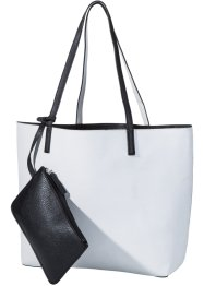 Shopper, bpc bonprix collection, schwarz/weiss