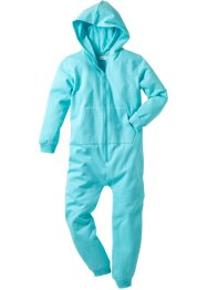 Kapuzensweat-Overall, bpc bonprix collection, aqua