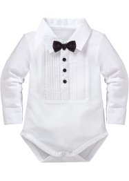 Baby Langarmbody Bio-Baumwolle, bpc bonprix collection, weiss