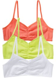 Bustier (3er-Pack), bpc bonprix collection, weiss,mintgrün,lachs