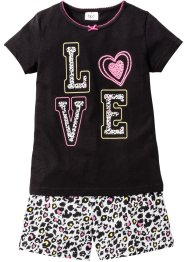 Shorty-Pyjama (2-tlg. Set), bpc bonprix collection, schwarz/weiss